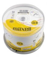 50 Maxell Blank CD-R discs 80Min 700MB White Inkjet Printable 624006 Cakebox